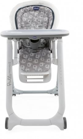 Chicco Eetstoel Polly Progres5 - 4 Wheels Light Grey