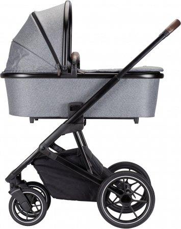 Qute Q-Rider Kinderwagen Zwart Frame/Grey Incl. Mamabag