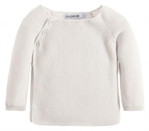 Noppies Vest Knit Pino White