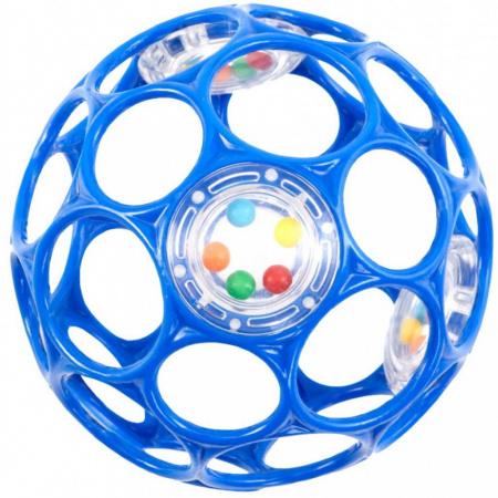 Oball Balle Hochet Blue 10 cm