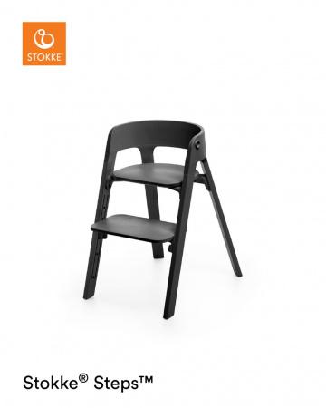 Stokke® Steps™ Chair Seat Back Legs Black