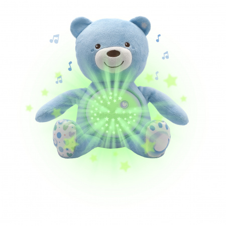 Chicco Knuffel Projector Baby Bear First Dreams Blauw