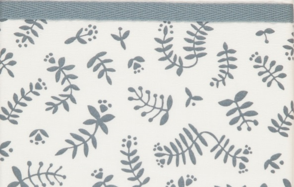 Briljant Wieglaken Botanical Organic Blauw Grijs <br> 75 x 100 cm