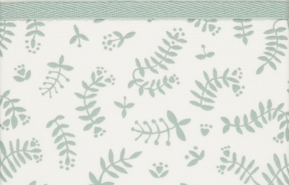 Briljant Wieglaken Botanical Organic Stonegreen <br> 75 x 100 cm