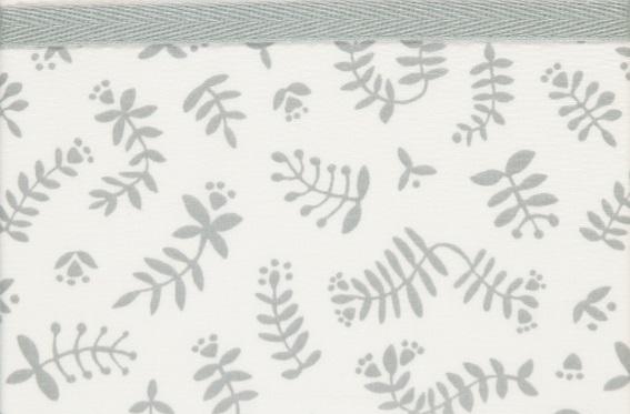 Briljant Ledikantlaken Botanical Organic Grijs <br> 100 x 150 cm