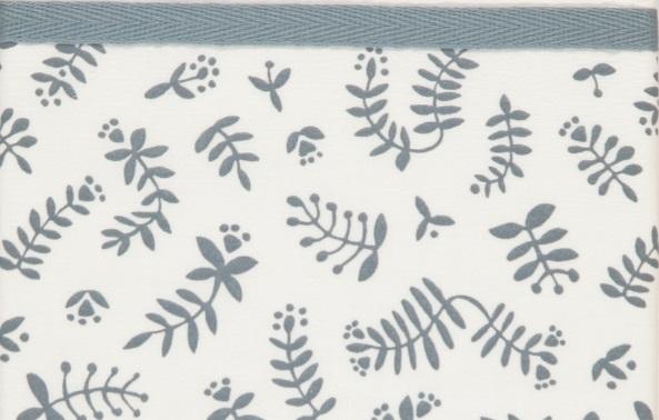 Briljant Ledikantlaken Botanical Organic Blauw Grijs <br> 100 x 150 cm