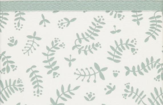 Briljant Ledikantlaken Botanical Organic Stonegreen <br> 100 x 150 cm