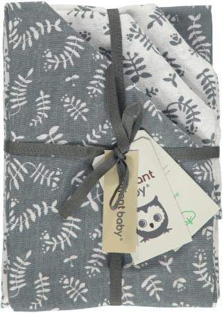 Briljant Multidoek Botanic Organic Blauw Grijs <br> 70 x 70 cm 4-Pack