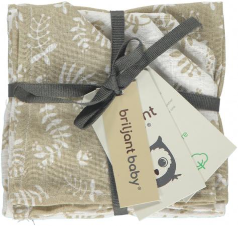 Briljant Monddoek Botanic Organic Zand 4-Pack