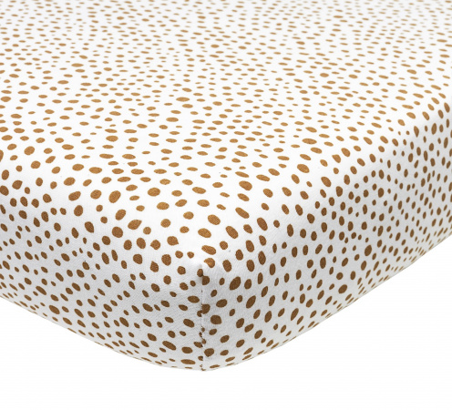 Meyco Ledikanthoeslaken Cheetah Camel 60 x 120 cm
