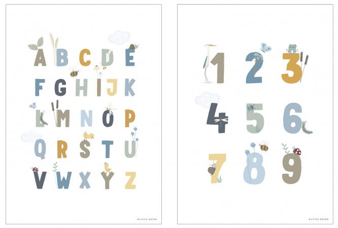 Little Dutch Poster A3 Little Goose ABC Blue