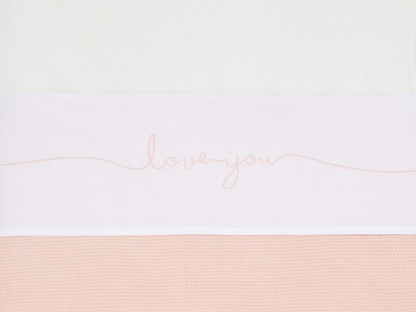 Jollein Wieglaken Love You Pale Pink <br>75 x 100 cm
