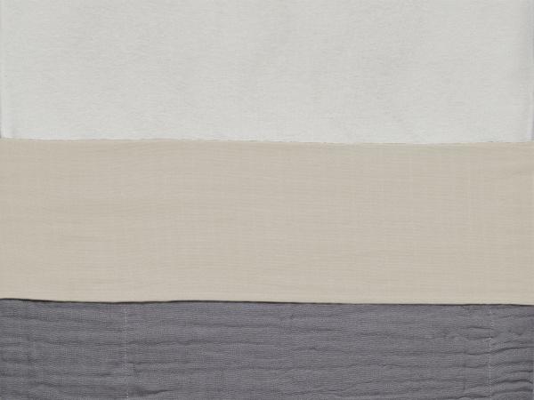 Jollein Ledikantlaken Wrinkled Cotton Nougat <br>120x150cm