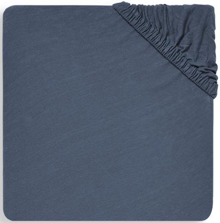 Jollein Ledikanthoeslaken Jersey <br>60 x 120 cm Jeans Blue