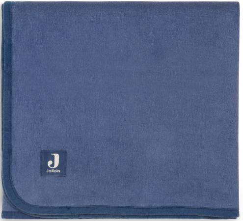 Jollein Ledikantdeken Jeans Blue <br> 100 x 150 cm