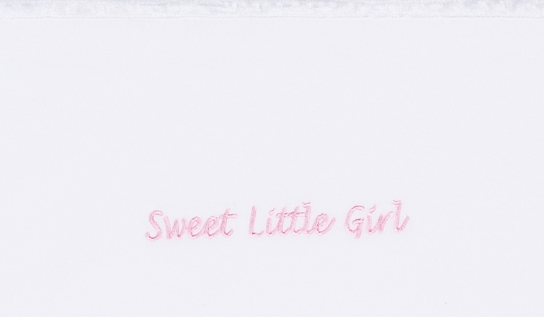 Briljant Wieglaken Sweet Little Girl roze<br> 75 x 100 cm