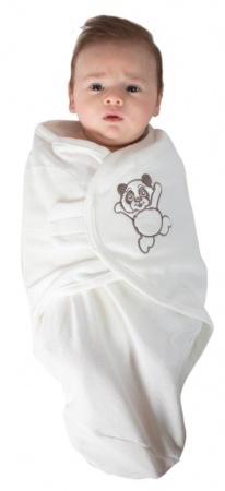 Bo Jungle Baby Wrap White Small