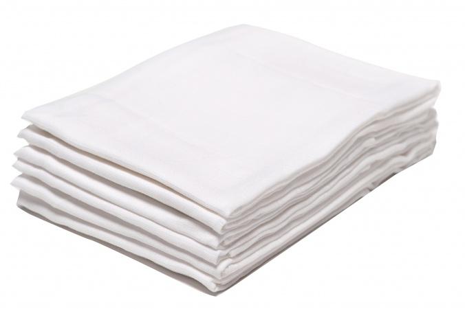 Babydump Collectie Hydrofiele Luiers Wit (6 stuks)