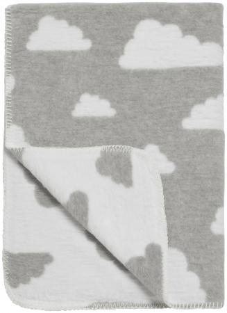 Meyco Wiegdeken Little Clouds Grijs<br> 75 x 100 cm