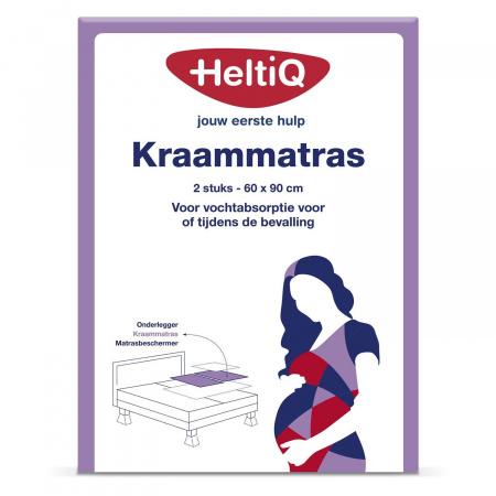 HeltiQ Kraammatras 60 x 90 cm 2 Stuks