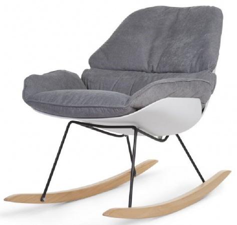 Childhome Schommelstoel Rocking Chair Lounge Wit/Grijs