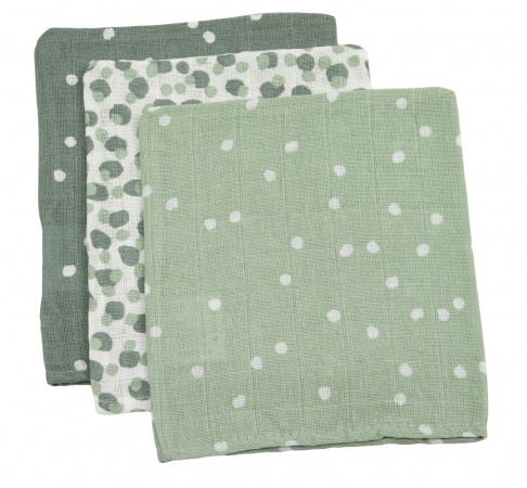 Briljant Washand Spots Stone Green 3-Pack