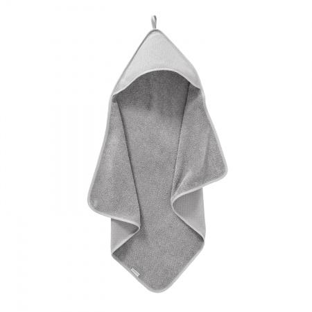 Cottonbaby Badcape Diamond Wafel Lichtgrijs