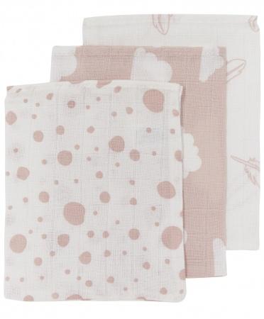 Meyco Washand Hydrofiel Print Roze 3-Pack