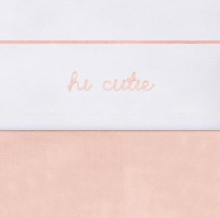 Jollein Ledikantlaken Hi Cutie Pale Pink <br>120 x 150 cm