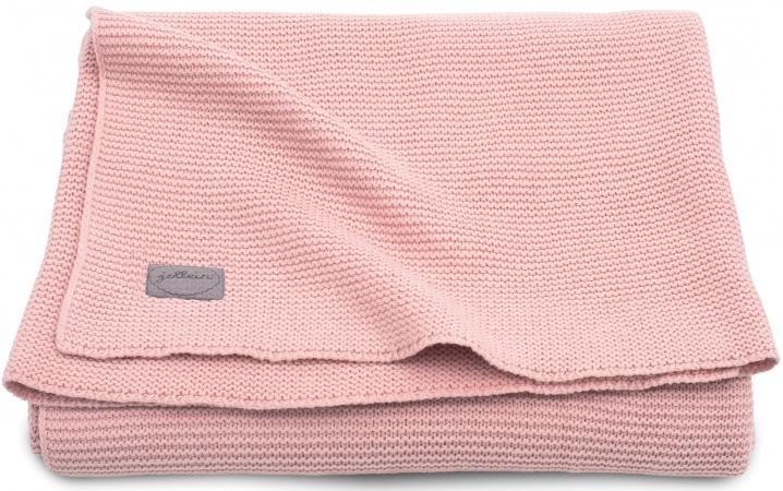 Jollein Wiegdeken Basic Knit Blush Pink <br> 75 x 100 cm