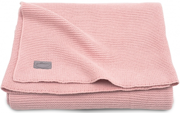 Jollein Ledikantdeken Basic Knit Blush Pink <br>100 x 150 cm