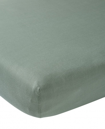 Meyco Juniorhoeslaken Jersey Stone Green <br/ >70 x 140/150 cm