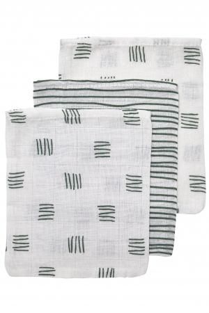Meyco Washand Block Stripe Forest Green 3-Pack