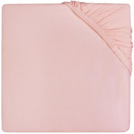 Jollein Ledikanthoeslaken Jersey <br>60 x 120 cm Soft Pink