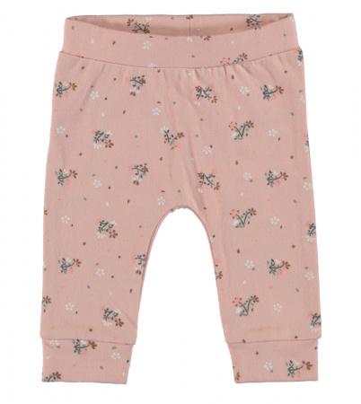 Babylook Broek Flower Silver Pink