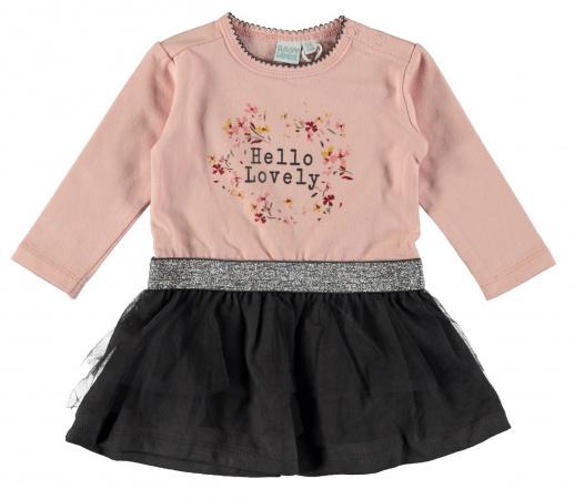 Babylook Jurk Hello Lovely Silver Pink