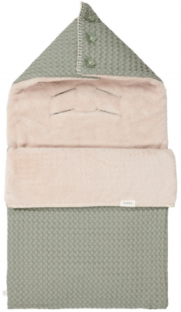 Koeka Voetenzak Wafel Teddy Oslo<br> Shadow Green/Soft Sand