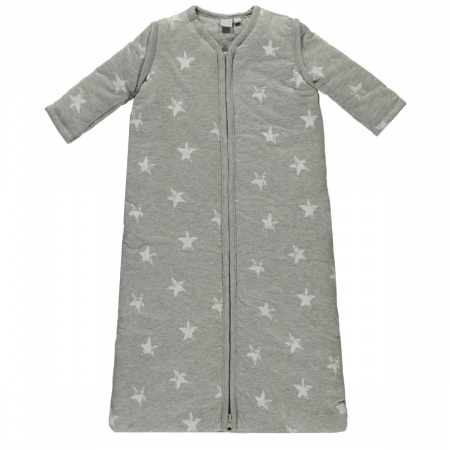 Babylook Slaapzak Winter Afritsbare Mouw Star Grey Melange 70cm