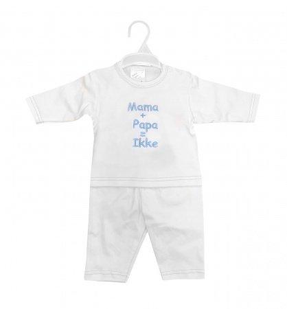 La Petite Couronne 2-Delige Set Mama+Papa White Blue