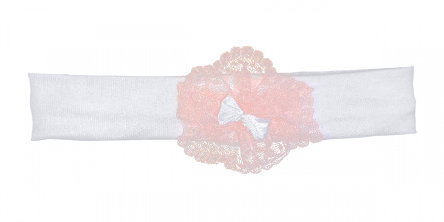 La Petite Couronne Haarband White Pink