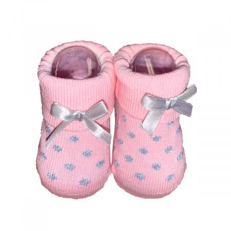 La Petite Couronne Sokjes Dots Glitter Pink Newborn