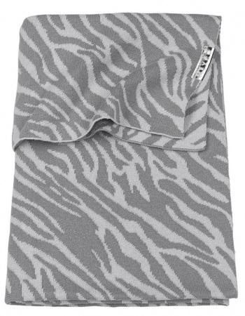 Meyco Wiegdeken Zebra Grijs<br> 75 x 100 cm