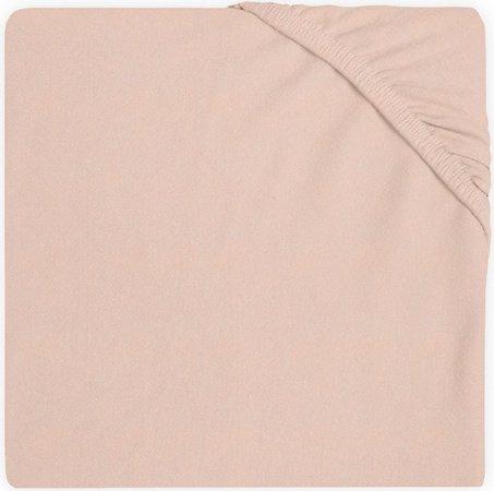 Jollein Ledikanthoeslaken Jersey <br>60 x 120 cm Pale Pink