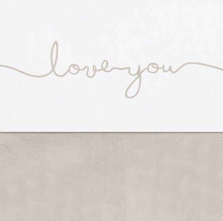 Jollein Wieglaken Love You Nougat <br> 75 x 100 cm