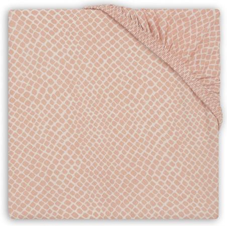 Jollein Ledikanthoeslaken Jersey <br> 60 x 120 cm Snake Pale Pink