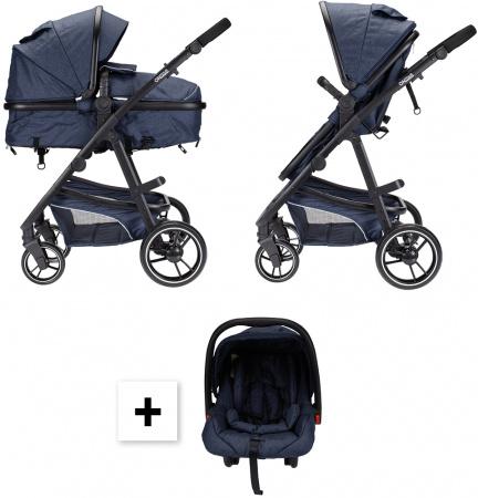 Kinderwagen On Tour 3 in 1 Denim Blue Inclusief Autostoel