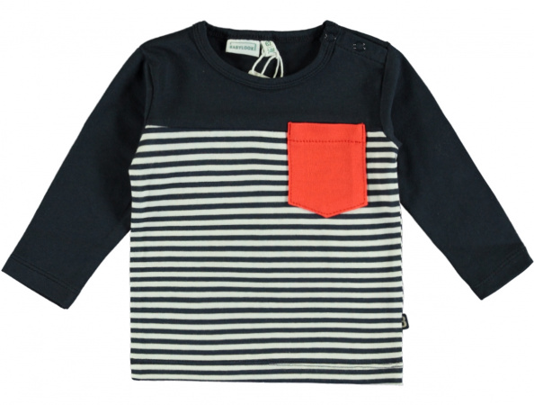 Babylook T-Shirt Stripe Total Eclipse