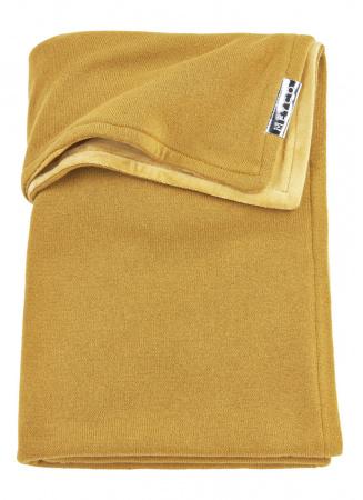 Meyco Ledikantdeken Knit Basic Honey Gold Met Velvet<br> 100 x 150 cm