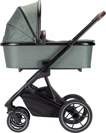 Qute Q-Rider Kinderwagen Zwart Frame/Green Incl. Mamabag