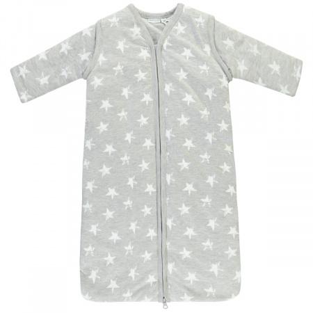 Babylook Slaapzak Winter Afritsbare Mouw Stars Grey 110cm